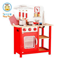 tk032 curved solid wood toy kitchen set with cookers interesting role play wooden