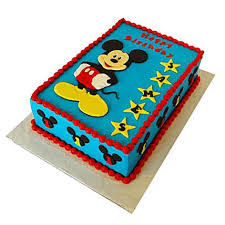 Mickey Mouse Designer Fondant Cake 2kg Chocolate Gift 5 Star