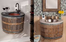 wine barrels reclaimed as bathroom furnishing by artisan company native trails inhabitat green design innovation architecture green building