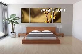 Modern Art Bedroom 3 Piece Yellow Canvas Music Wall Art
