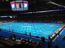 olympic swimming pool 2012. Attitude Specialty Lighting \u2013 2012 Olympic Swimming Time Trials Live Sports Using 50K SoftSun Lights Pool
