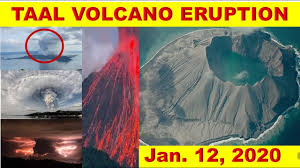Image result for the taal volcano first eruption in 2020