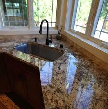 corner sink in granite countertop
