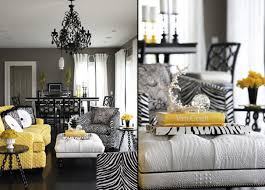 Yellow And Gray Living Room Decor Black White Yellow Gray Living Room House Decor