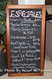 specials board picture of bocados spanish kitchen newcastle