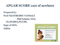 Apgar Score Care Of Newborn Ppt