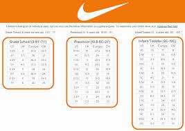 Nike Sandal Size Chart Unique Nike Women Size Guide Us Shoe Size Chart Youth Kids
