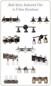 industrial bathroom vanity lighting. Simple Industrial Bath Styles Industrial Chic To Urban Farmhouse On Bathroom Vanity Lighting A