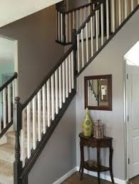 Image Contemporary Painting And Staining Our Stair Railing Part Done Stair Railing Parts Painted Pinterest 89 Best Indoor Stair Railing Images Hand Railing Stair Handrail