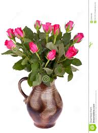 Flower pot with roses