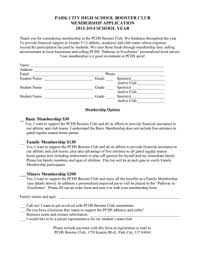 Fillable Online Pchs Pcschools 11a Booster Club Membership