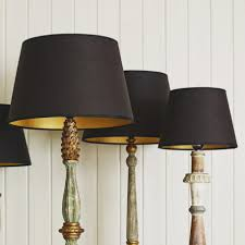 lighting floor lamps black lamp shades with gold inside fringe