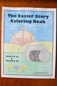 Christian religious coloring page with the words he is risen. by: Religious Easter Coloring Pages Mary Martha Mama