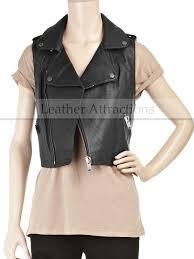 biker style las leather vest 190 00 145 00
