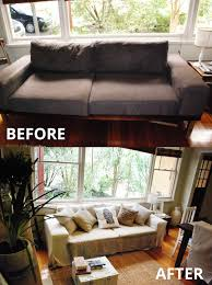 couch slipcovers before and after. Simple Couch Custom Non Ikea Slip Cover Throughout Couch Slipcovers Before And After I