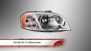 07-11 Chevy Aveo OEM Style Headlight - YouTube