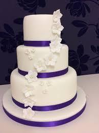 6 Simple Three Tier Wedding Cakes Photo 3 Tier Wedding Cake Ideas