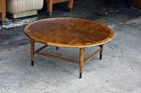 antique round coffee table vintage bus for lane acclaim round walnut coffee table with remodel 4