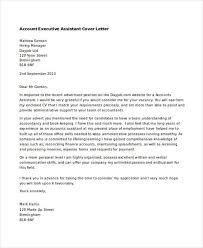 executive assistant cover letters executive assistant cover letters 9 free word pdf format
