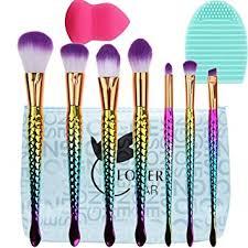 mermaid make up brushes set lover bar 7pcs makeup brushes beauty cosmetics blender sponge