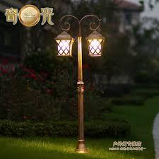 2 heads europe classical garde lamp post light aluminum outdoor courtyard landscape lighting 1 4m iluminacion jardin porta prato