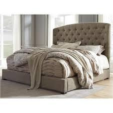 B657-77 Ashley Furniture Gerlane - Dark Brown Queen Upholstered Bed
