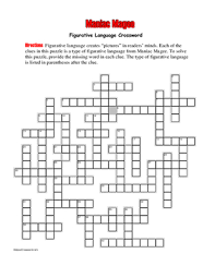 maniac magee figurative language crossword fun unique from  tips for writing an effective maniac magee essay