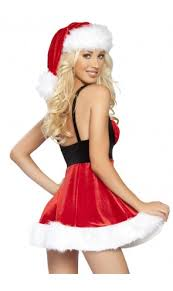 ... Roma Sexy Red Fur Trimmed Christmas Dress Costume