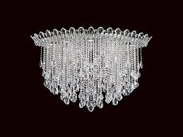 ceiling lamp with swarovski crystals trilliane strands ceiling lamp by schonbek