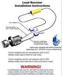 led turn signal resistor wiring diagram wiring diagram and hernes how to install 50w 6 ohm load resistor for led turn signal lights motorcycle led turn signal wiring diagram