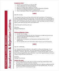 Free 7 Sample Printable Job Rejection Letter Templates Download