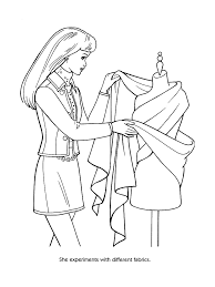 Small Picture Barbie fashion coloring pages 34 Barbie Fashion Kids