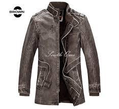 leather jackets men coats winter warm motorcycle leather jacket men s fashion luxury leather mens fur coat