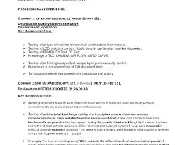Tech Resume Enchanting Microbiology Resume Sample Microbiologist Resume Sample Microbiology