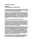relationships in the glass menagerie by tennessee williams glass menagerie creative writing task