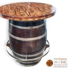 wine barrell furniture. zin pub table wine barrell furniture