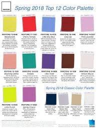 Fashion Colour Chart Tendencias De Color Primavera 2018 Spring Color Palette