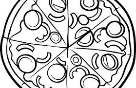 Coloring Pages For Preschool Pizza Coloring Pages Toppings Free