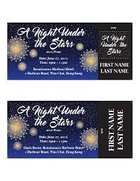 Prom Night Ticket Design A Night Under The Stars Prom Ticket Design On Behance