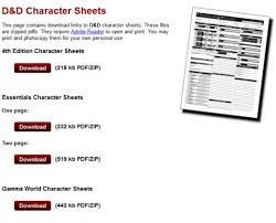 d and d online character sheet how to make a character for 4th edition dungeons dragons hobbylark