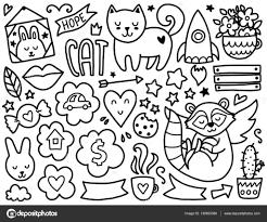 Doodles Cute Elements Stock Vector Qilli 136853386