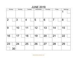 June 2019 Printable Calendar Free Download Monthly Calendar Templates