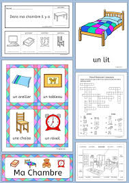 French Bedroom Vocabulary - Ma Chambre   French words, Book ...