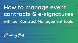 Event Planning Services Agreement Event Contracts Electronic Signatures How To Track Legal Contracts E Signatures Planning Pod