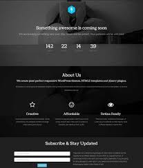 Black Template 40 Free Html Coming Soon Maintenance Under Construction Website