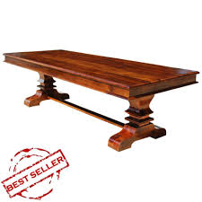 Solid Wood Rectangular Pedestal Dining Table