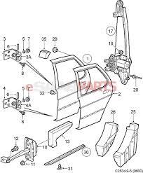 Exterior car door parts diagram 12803392 saab plug genuine saab