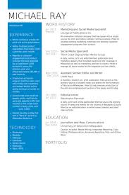 Social Media Resume Example Social Media Specialist Resume Samples Visualcv Resume Samples