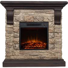 polyfiber electric fireplace with  mantle  walmartcom