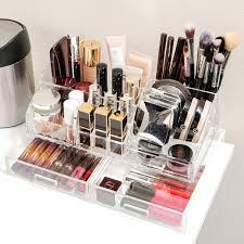 large acrylic makeup organizer with drawers uk muji 5